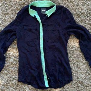 Maeve size 6 bottom down shirt